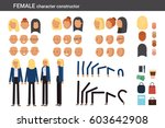 female character constructor... | Shutterstock .eps vector #603642908