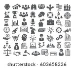 Business icons set. Icons for business, management, finance, strategy, marketing. | Shutterstock vector #603658226