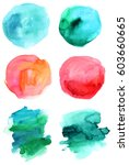 A Set Of Abstract Watercolour...