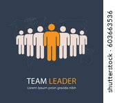team leader and group of people ... | Shutterstock .eps vector #603663536