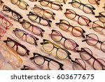 eyeglasses on sale in wide... | Shutterstock . vector #603677675