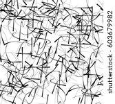random  chaotic lines artistic... | Shutterstock .eps vector #603679982
