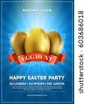 Happy Easter Party Flyer Desig...