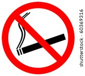 no smoking sign   vector   eps... | Shutterstock .eps vector #60369316