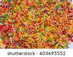 multicolored easter  sugar... | Shutterstock . vector #603695552