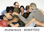group of diverse people... | Shutterstock . vector #603697052