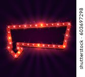 shining retro billboard.... | Shutterstock .eps vector #603697298