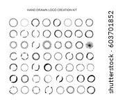 hand drawn logo creation kit... | Shutterstock .eps vector #603701852