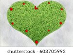 melting snow in the shape of...   Shutterstock . vector #603705992