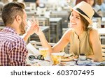 couple in love having fun at...   Shutterstock . vector #603707495