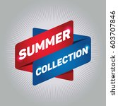 summer collection arrow tag... | Shutterstock .eps vector #603707846