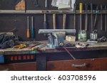 little homemade plumbing work | Shutterstock . vector #603708596