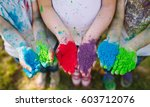 hands   palms of young people... | Shutterstock . vector #603712076