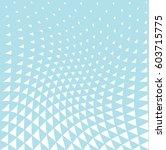 geometric triangle halftone...   Shutterstock .eps vector #603715775