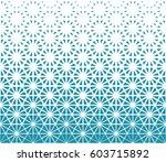 geometric triangle halftone... | Shutterstock .eps vector #603715892