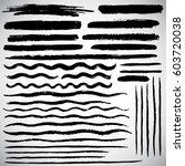 set of various vector brush... | Shutterstock .eps vector #603720038