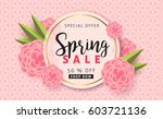 spring sale background layout... | Shutterstock .eps vector #603721136