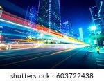 traffic through the modern city   Shutterstock . vector #603722438