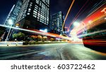 traffic through the modern city | Shutterstock . vector #603722462