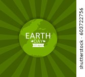 earth day illustration. green... | Shutterstock .eps vector #603722756