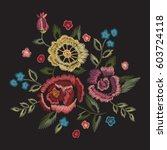 embroidery native floral round... | Shutterstock .eps vector #603724118