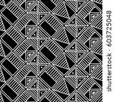 seamless vector pattern. black... | Shutterstock .eps vector #603725048