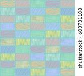 seamless vector geometrical... | Shutterstock .eps vector #603731108