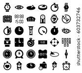 Watch Icons Set. Set Of 36...