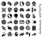 earth icons set. set of 36... | Shutterstock .eps vector #603732776