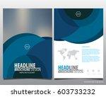 abstract vector modern flyers... | Shutterstock .eps vector #603733232
