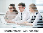 business people working with... | Shutterstock . vector #603736502