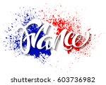 hand written france.... | Shutterstock .eps vector #603736982
