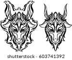 creative design for tattoo ... | Shutterstock .eps vector #603741392