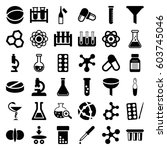 chemistry icons set. set of 36... | Shutterstock .eps vector #603745046