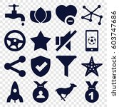 emblem icons set. set of 16... | Shutterstock .eps vector #603747686