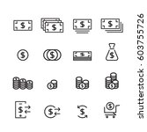 money line icon set | Shutterstock .eps vector #603755726