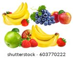 collection of fruits isolated... | Shutterstock . vector #603770222