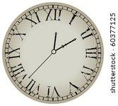 ancient clock against white... | Shutterstock .eps vector #60377125