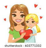 happy mother with her daughter... | Shutterstock .eps vector #603771332