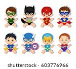 illustration  group of cute... | Shutterstock . vector #603776966