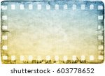 vintage film strip frame on old ... | Shutterstock . vector #603778652