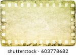 vintage film strip frame on old ... | Shutterstock . vector #603778682