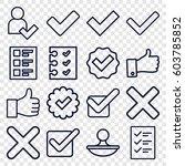 yes icons set. set of 16 yes...