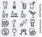 alcohol icons set. set of 16... | Shutterstock .eps vector #603786956