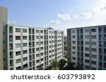 condominium building in...   Shutterstock . vector #603793892