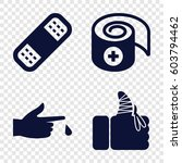 set of 4 accident filled icons... | Shutterstock .eps vector #603794462
