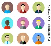 people icons set in flat design ... | Shutterstock .eps vector #603794546
