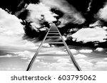 design element. 3d illustration.... | Shutterstock . vector #603795062