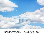 design element. 3d illustration.... | Shutterstock . vector #603795152