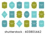 set of product label templates. ... | Shutterstock .eps vector #603801662